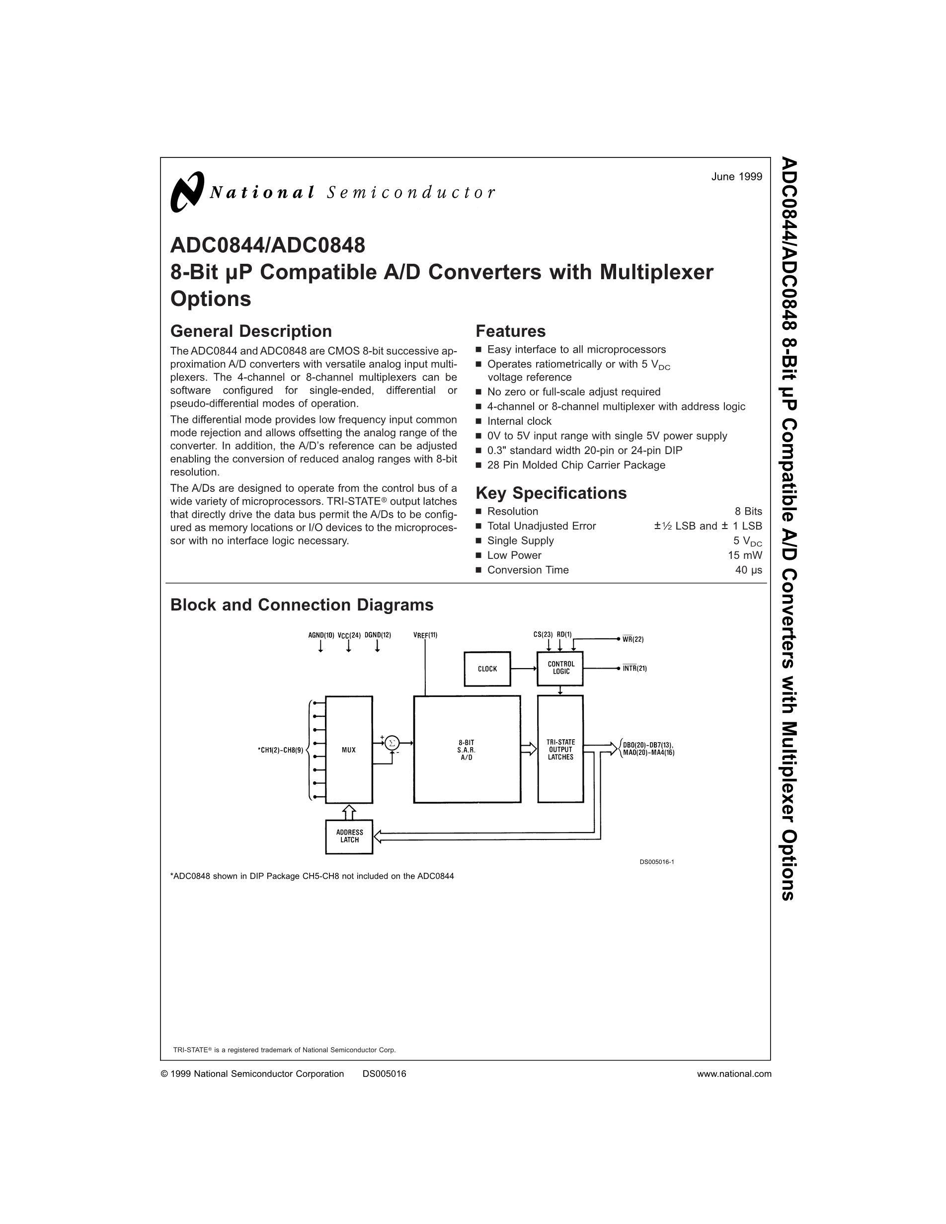 ADC0848CCN's pdf picture 1
