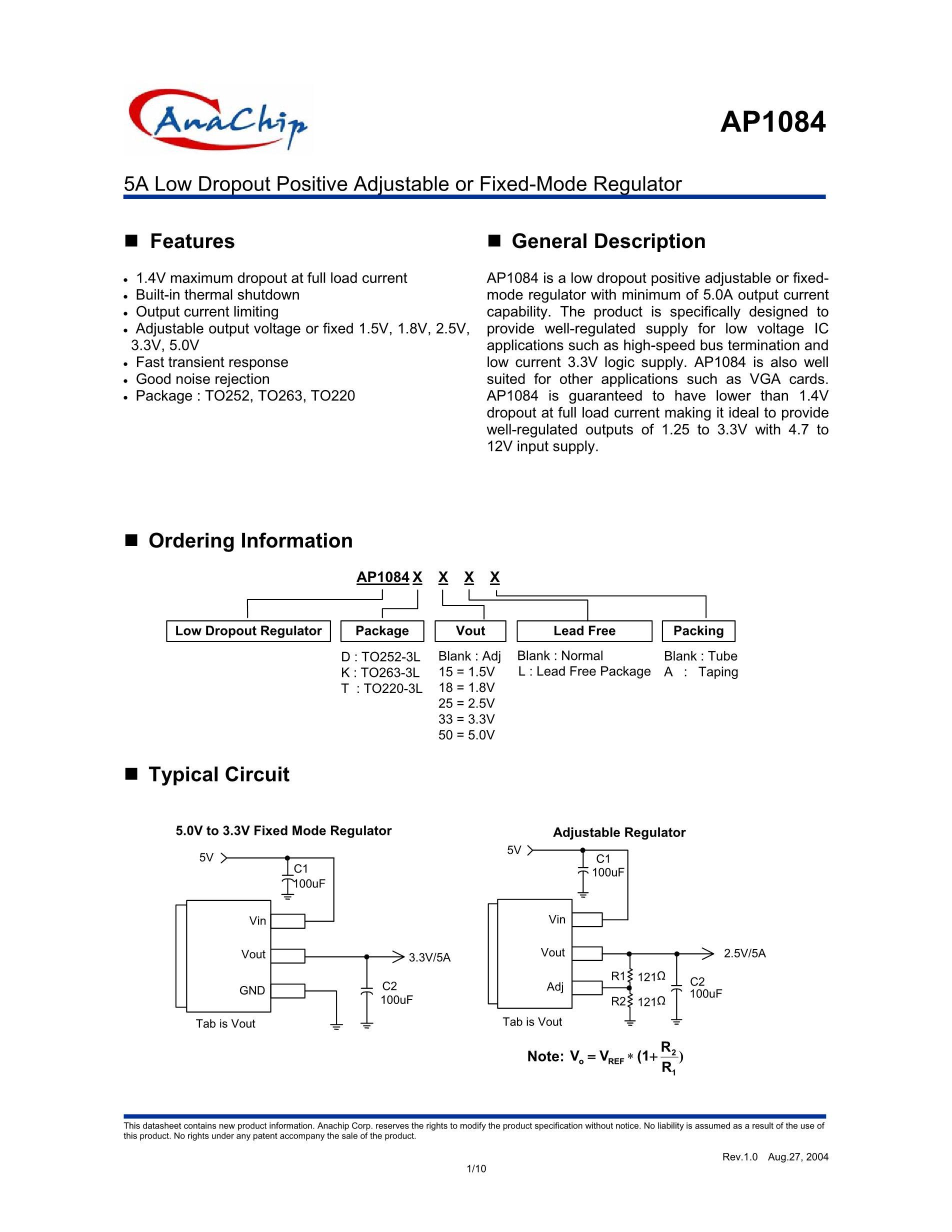 AP1084K18L-13's pdf picture 1