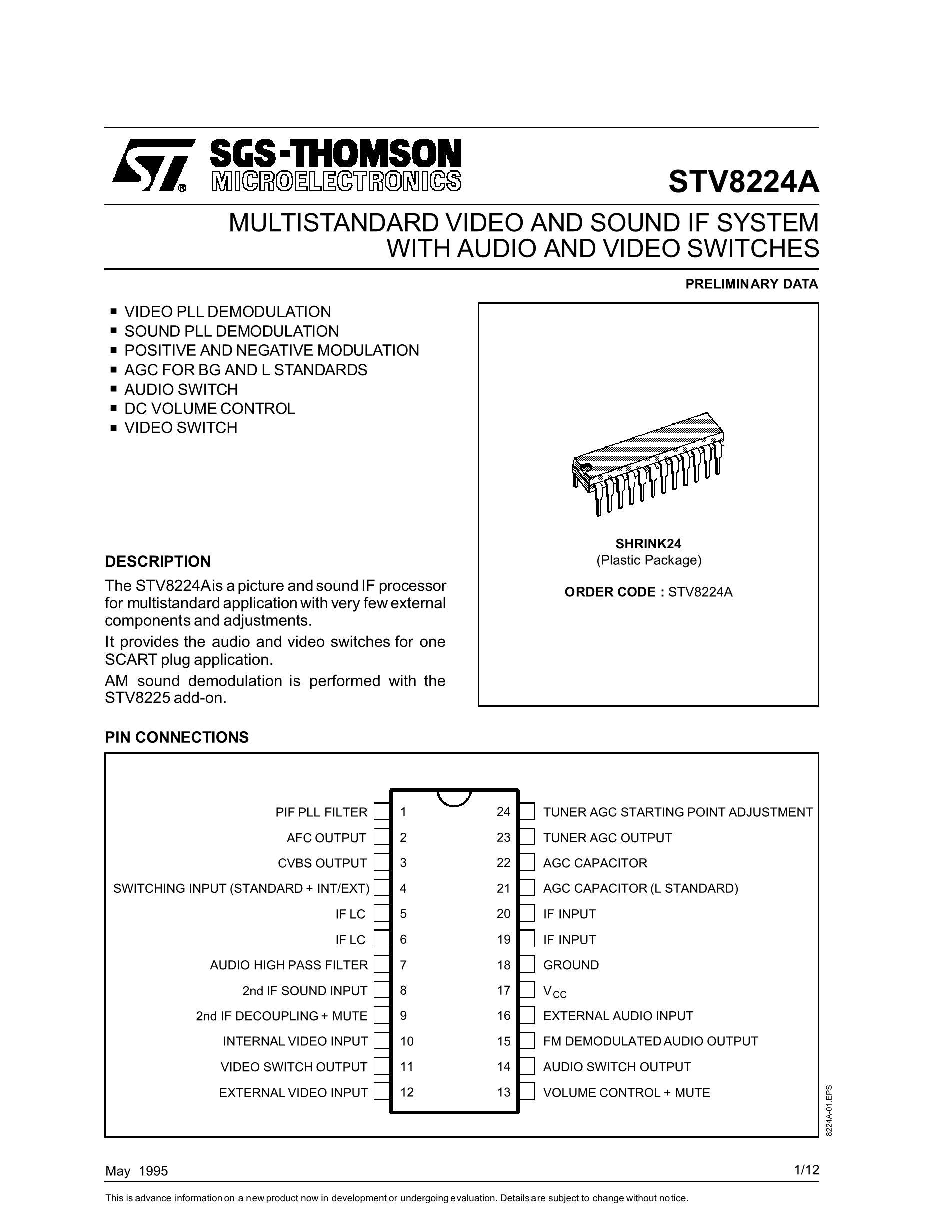 STV8438CV's pdf picture 1