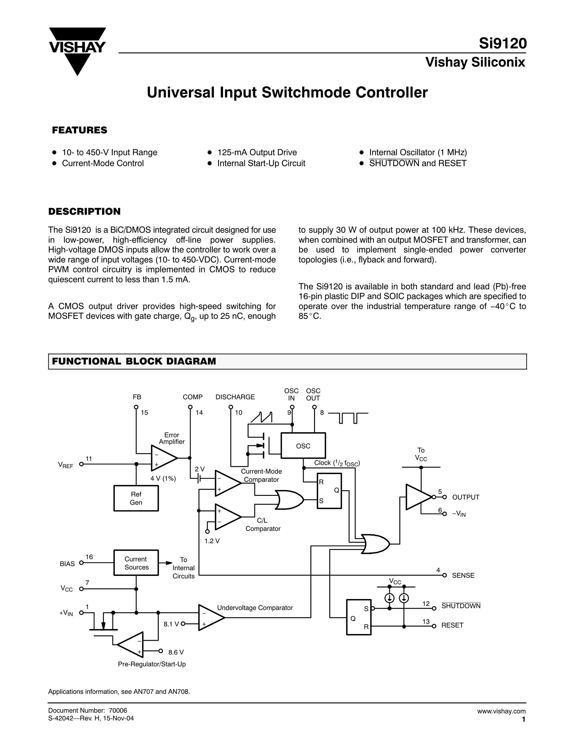 SI9145BQ's pdf picture 1