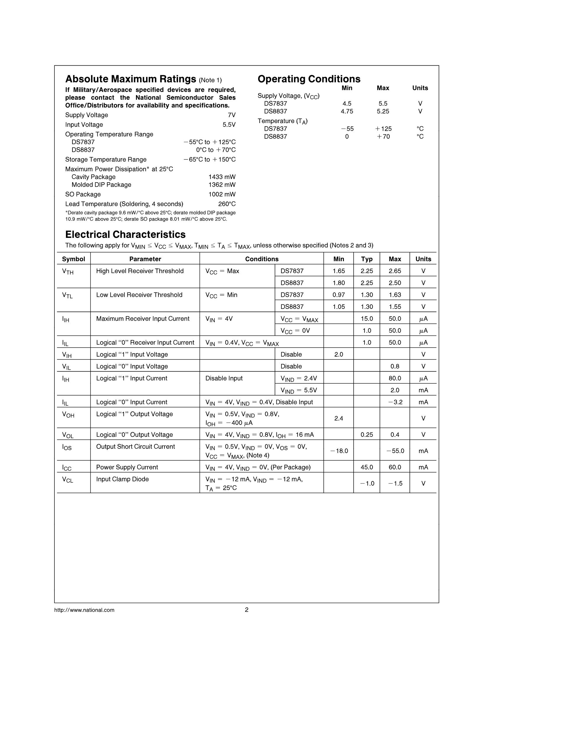 DS8837N's pdf picture 2