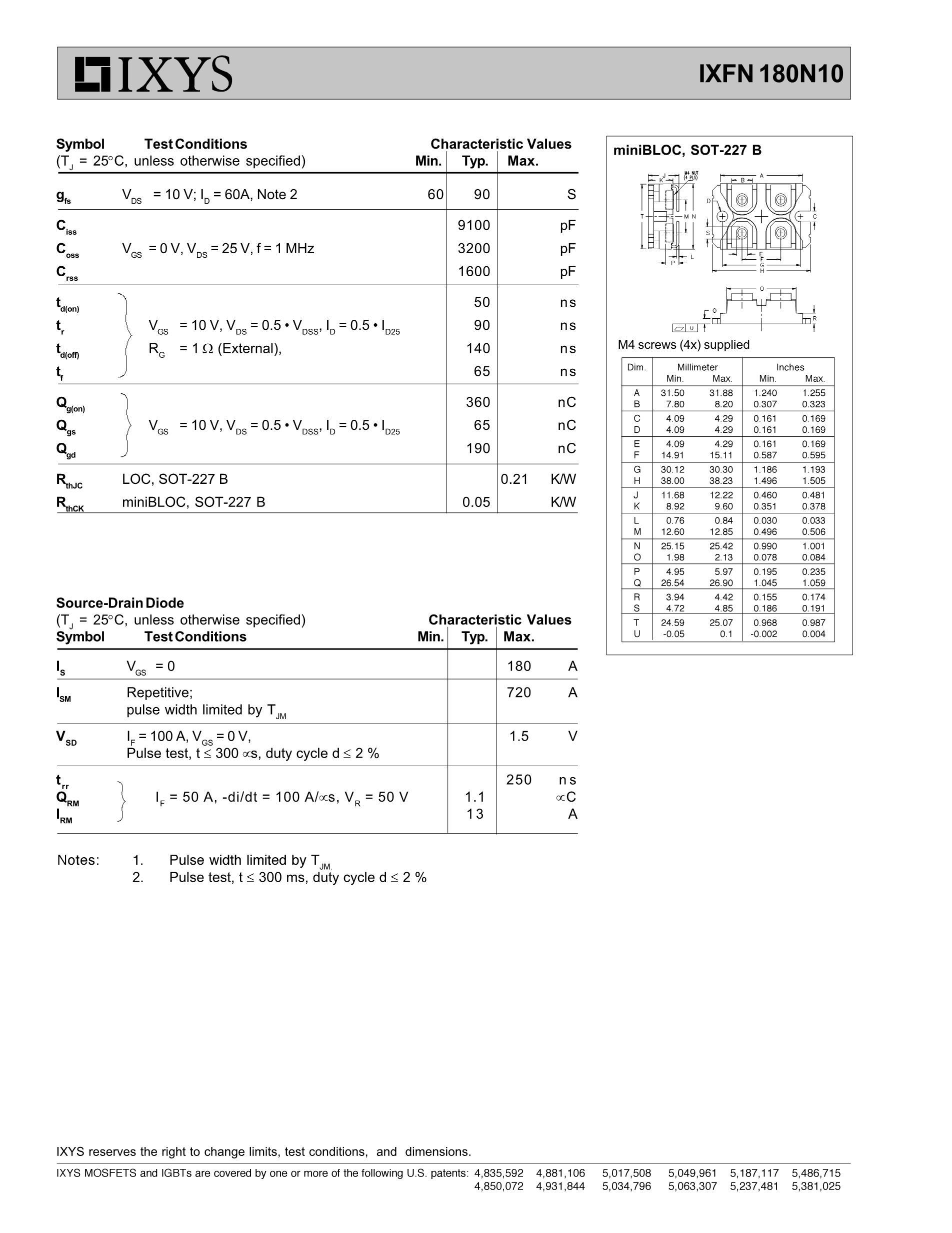 IXFN150N10's pdf picture 2