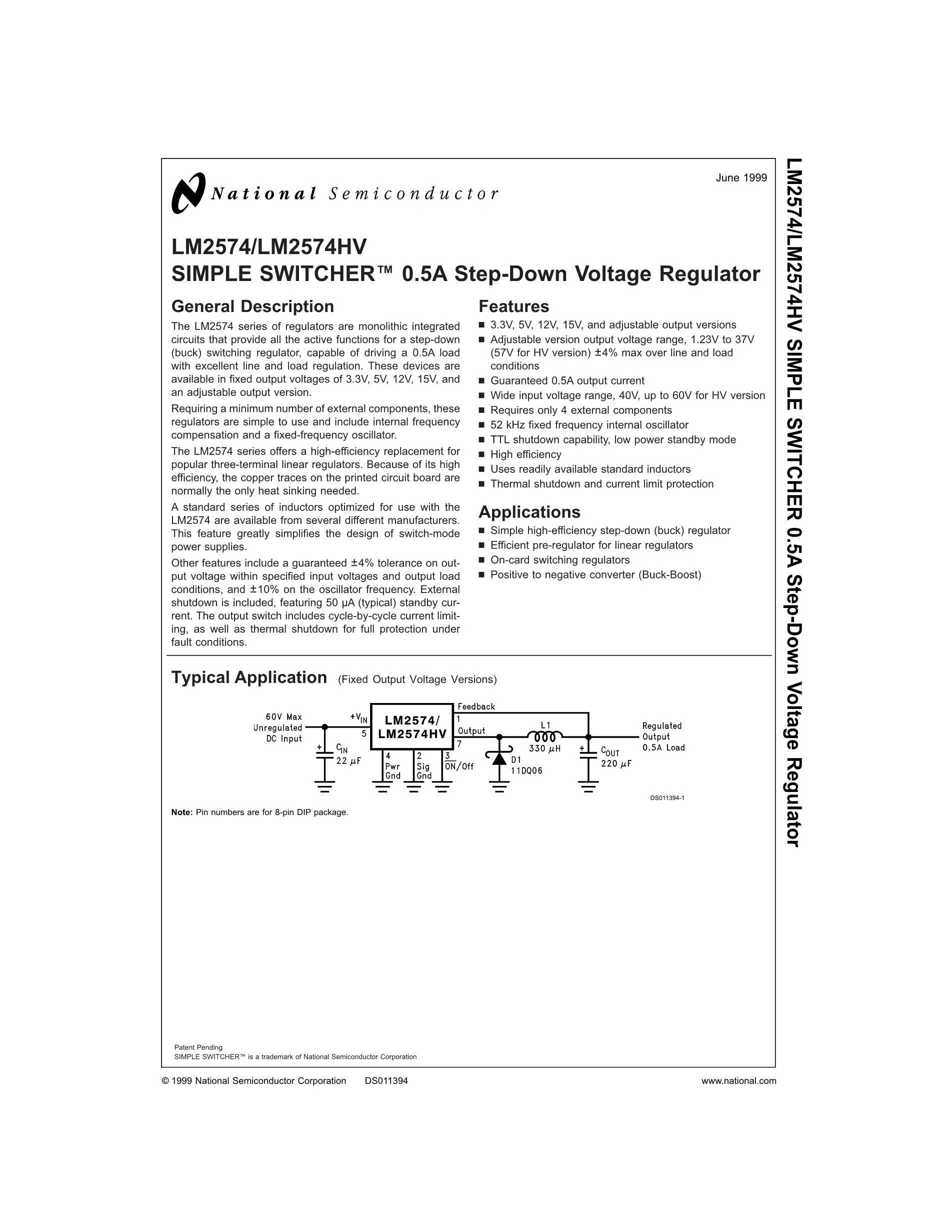 LM25005MHX/NOPB's pdf picture 1
