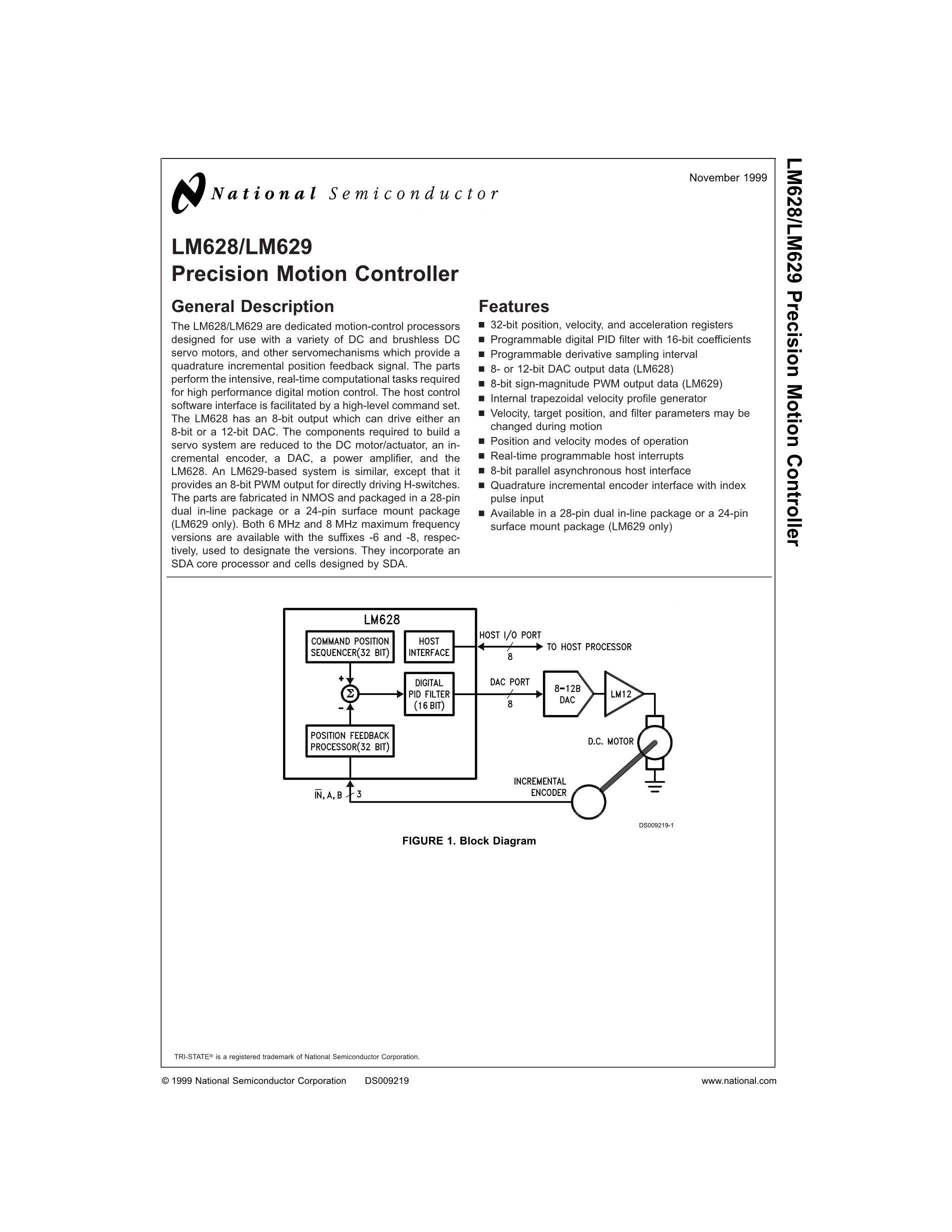 LM629N-6/NOPB's pdf picture 1