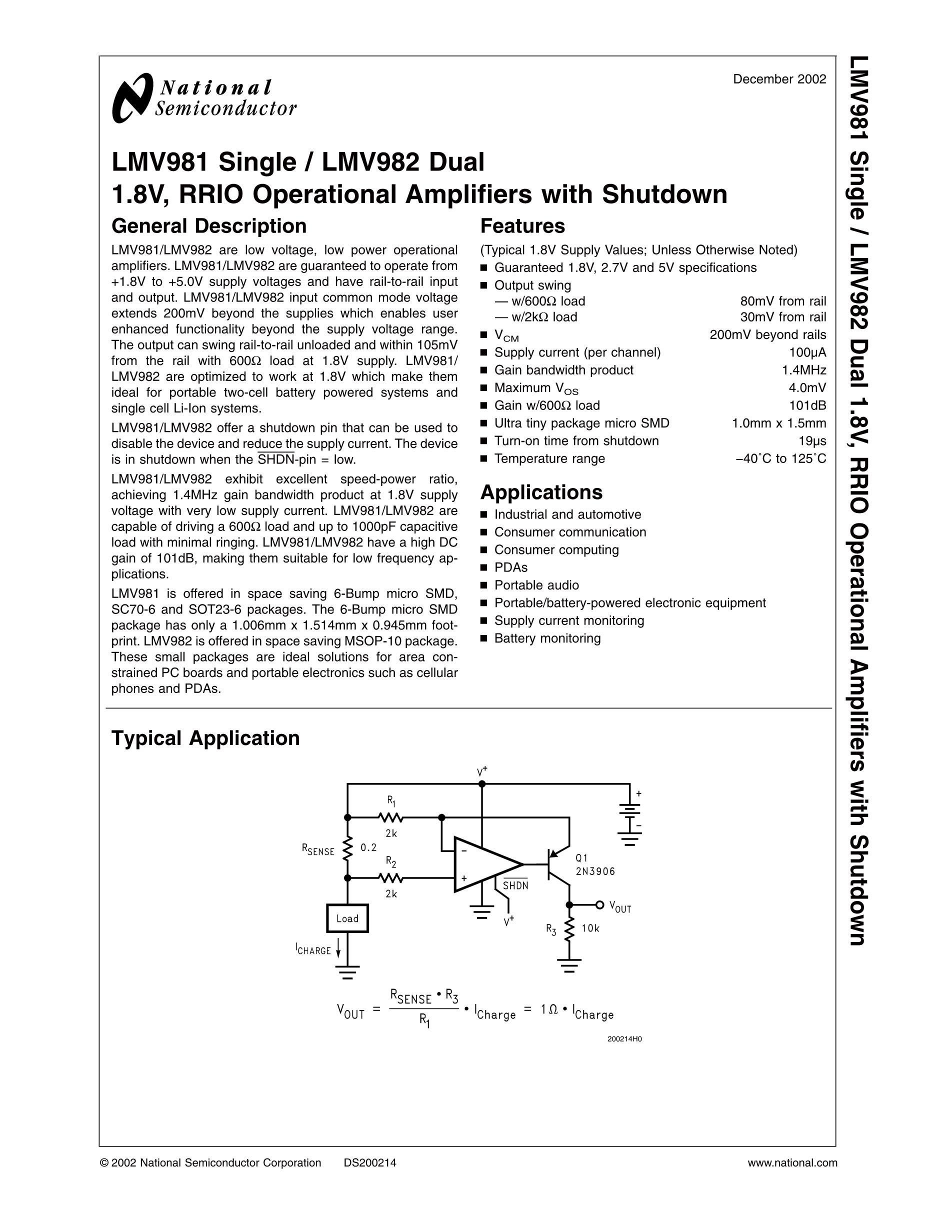 LMV934MA/NOPB's pdf picture 1