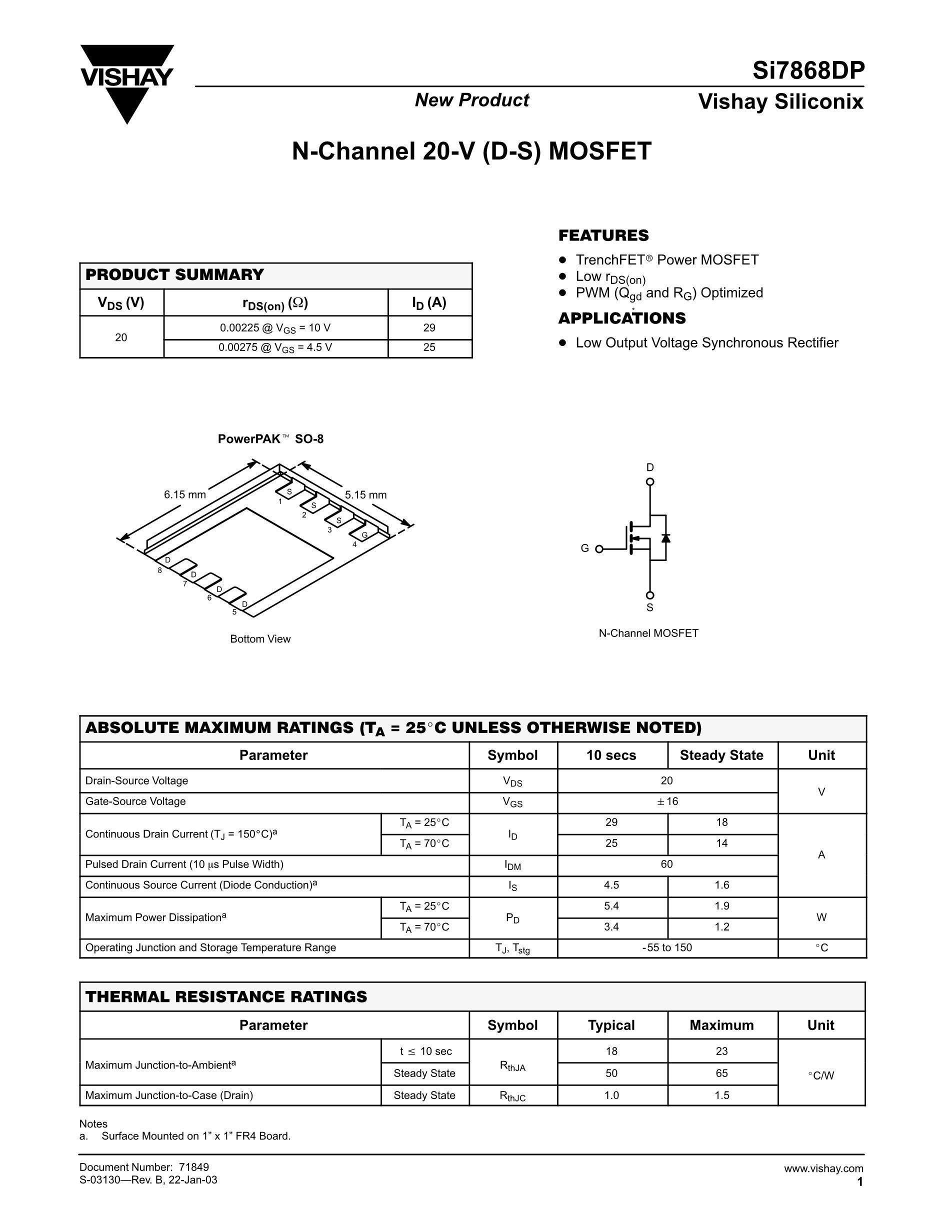 SI7848BDP-T1-GE3's pdf picture 1