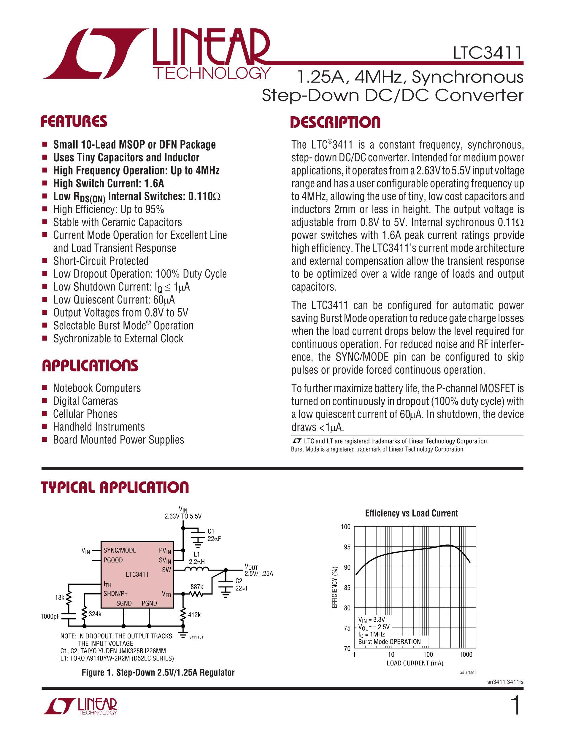 LTC3541EDD-1#PBF's pdf picture 1