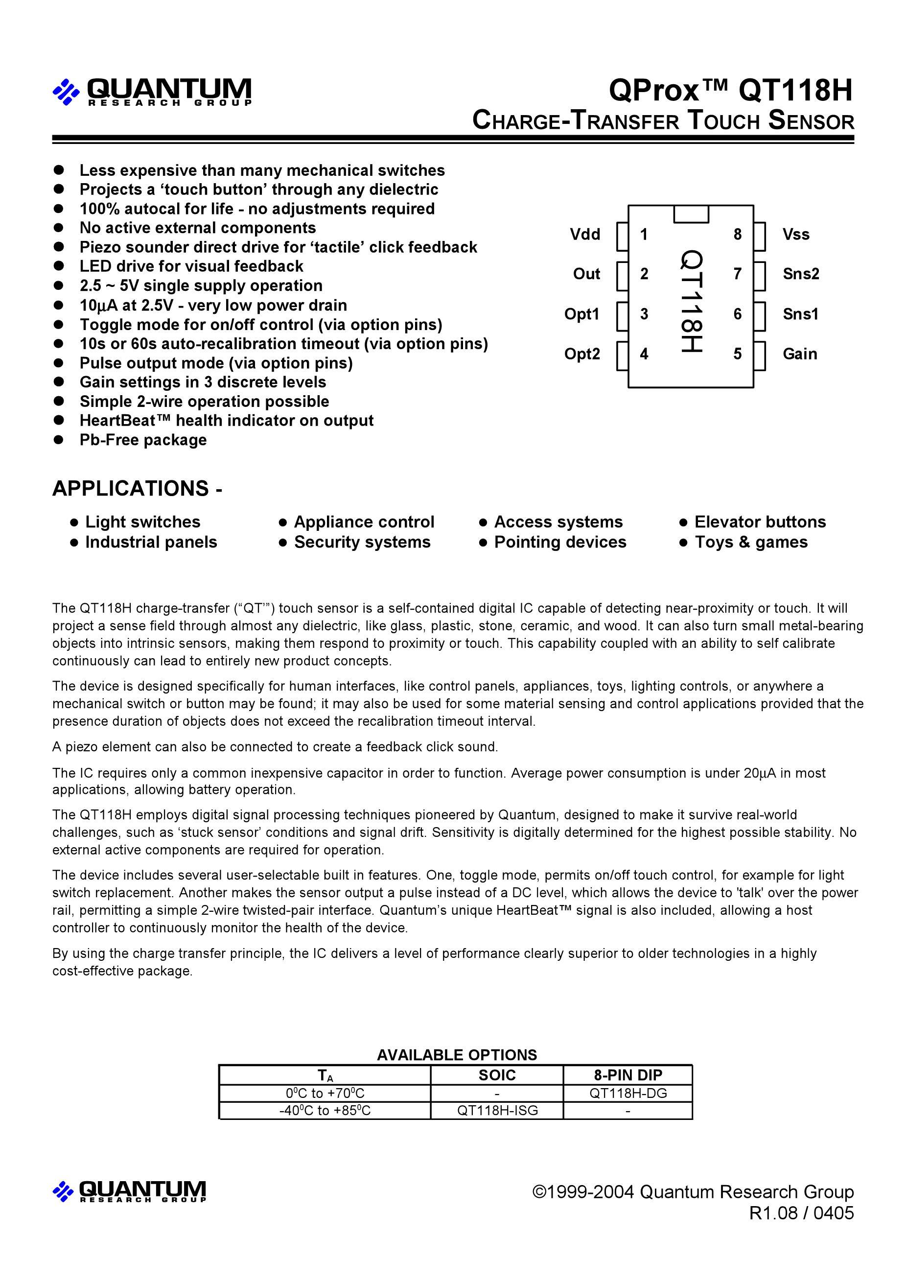 QT118H-D's pdf picture 1