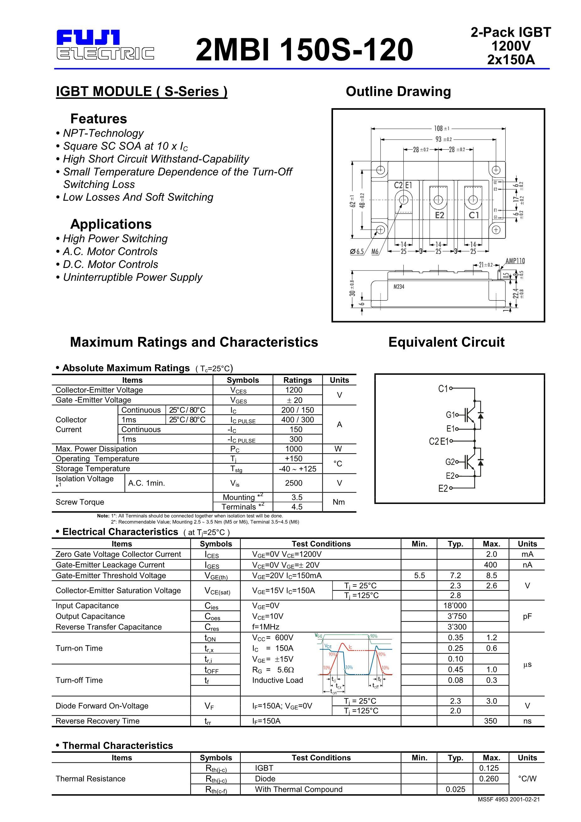 2MBI150S-120's pdf picture 1