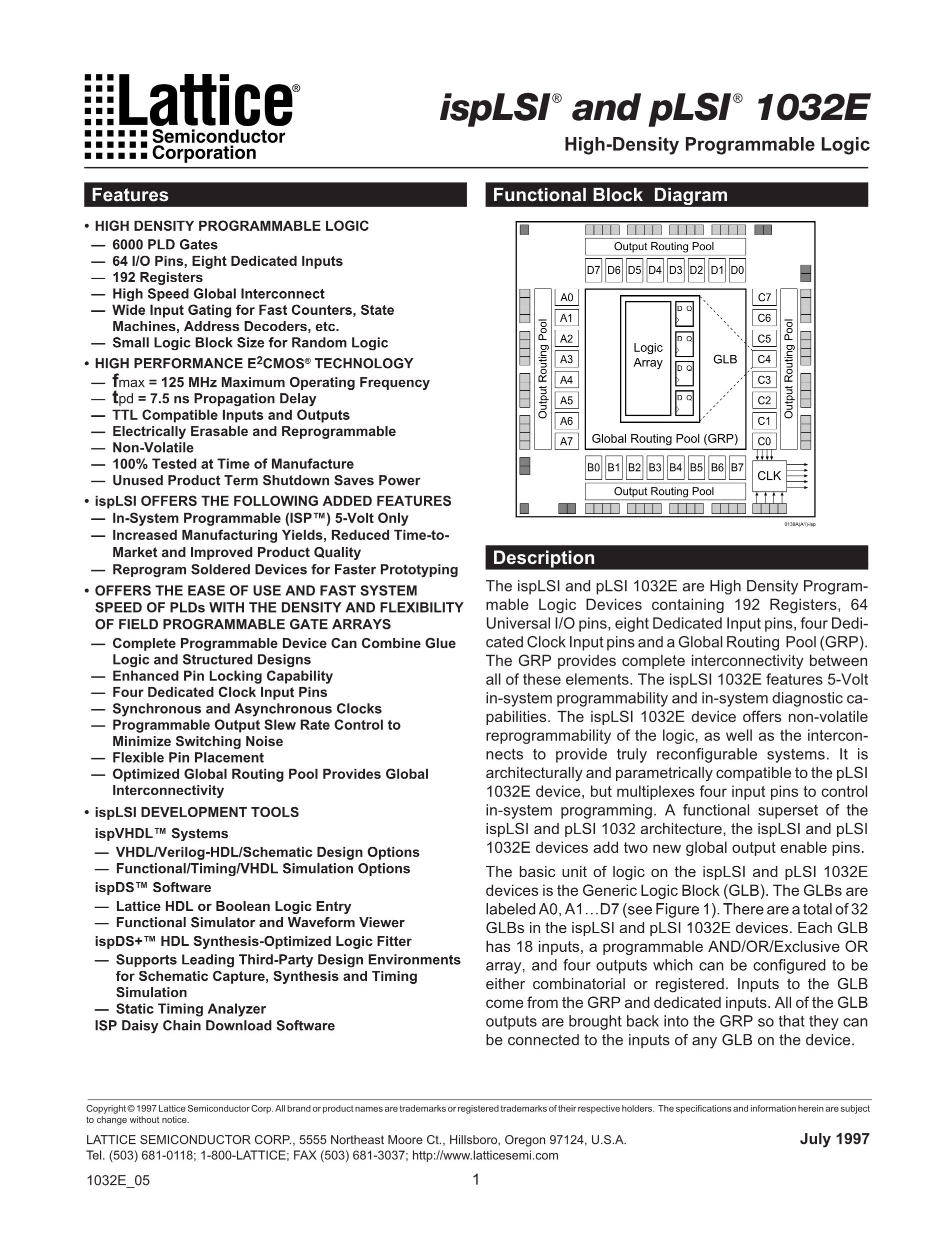 ISPLSI2064A-80LTN100's pdf picture 1