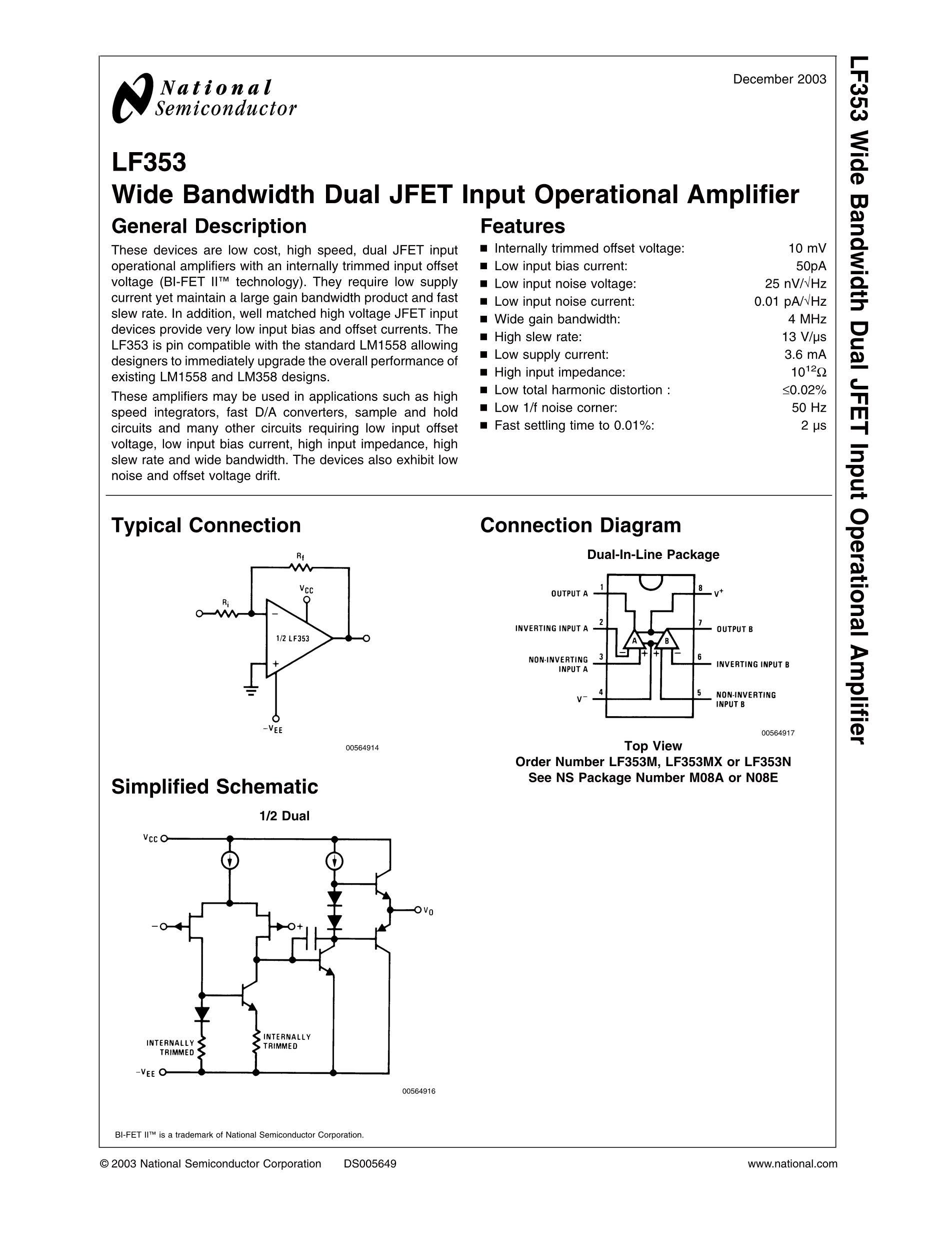 LF353MX-1/NOPB's pdf picture 1