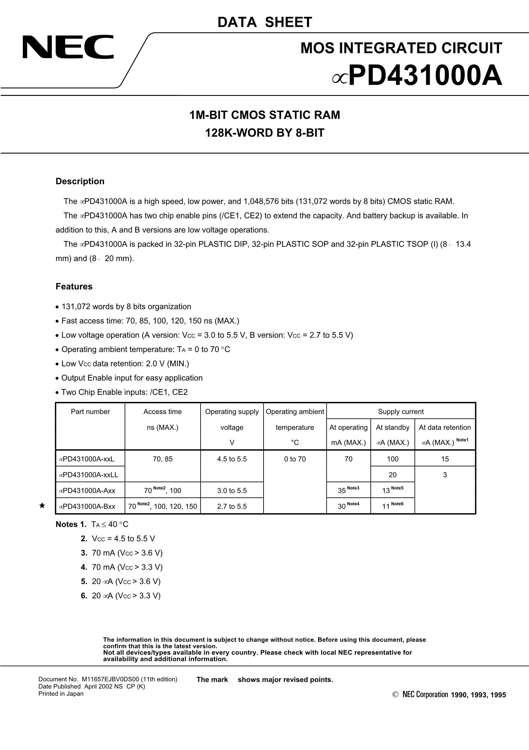 UPD4464G-15L's pdf picture 1
