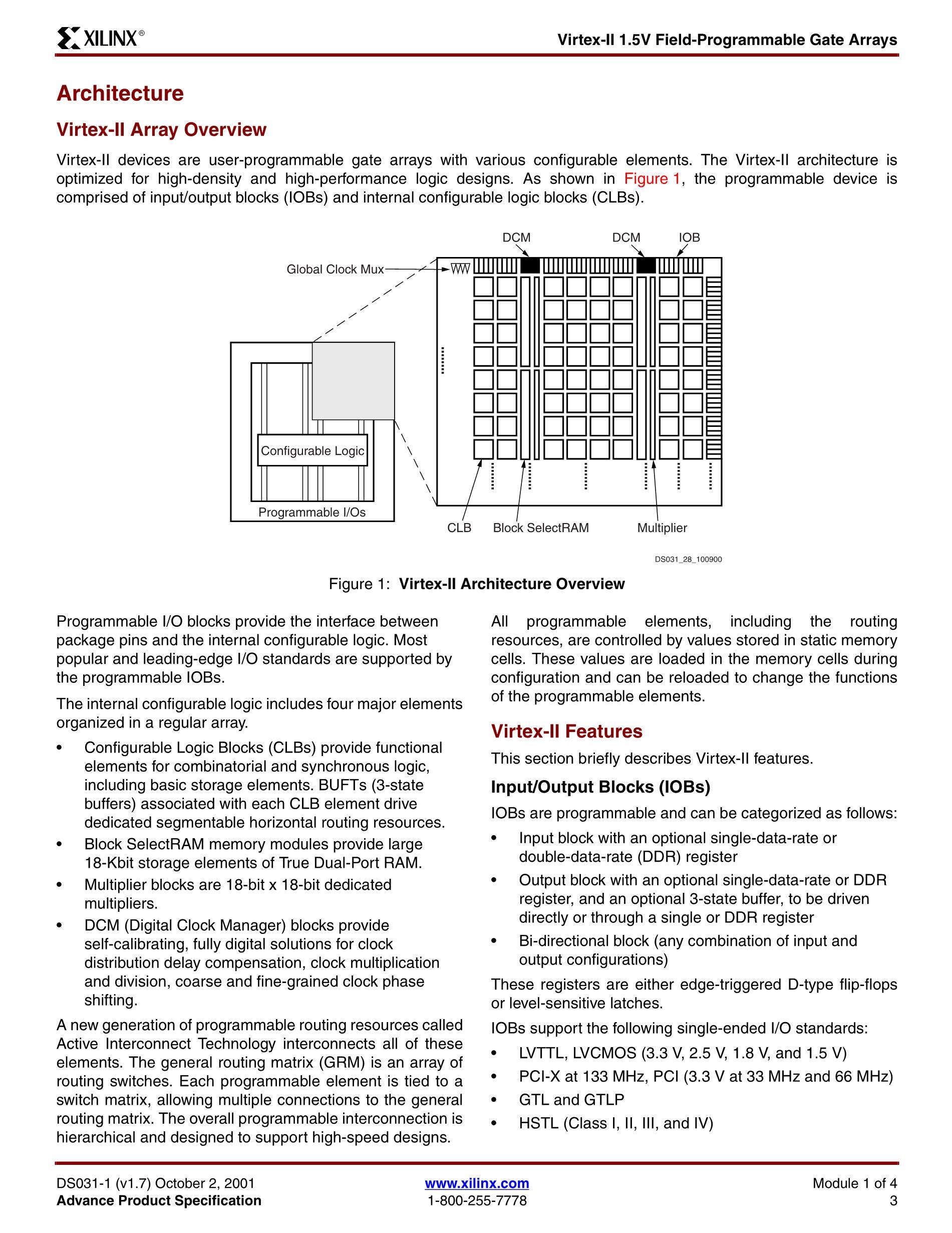 XC2V3000-5FFG1152C's pdf picture 3