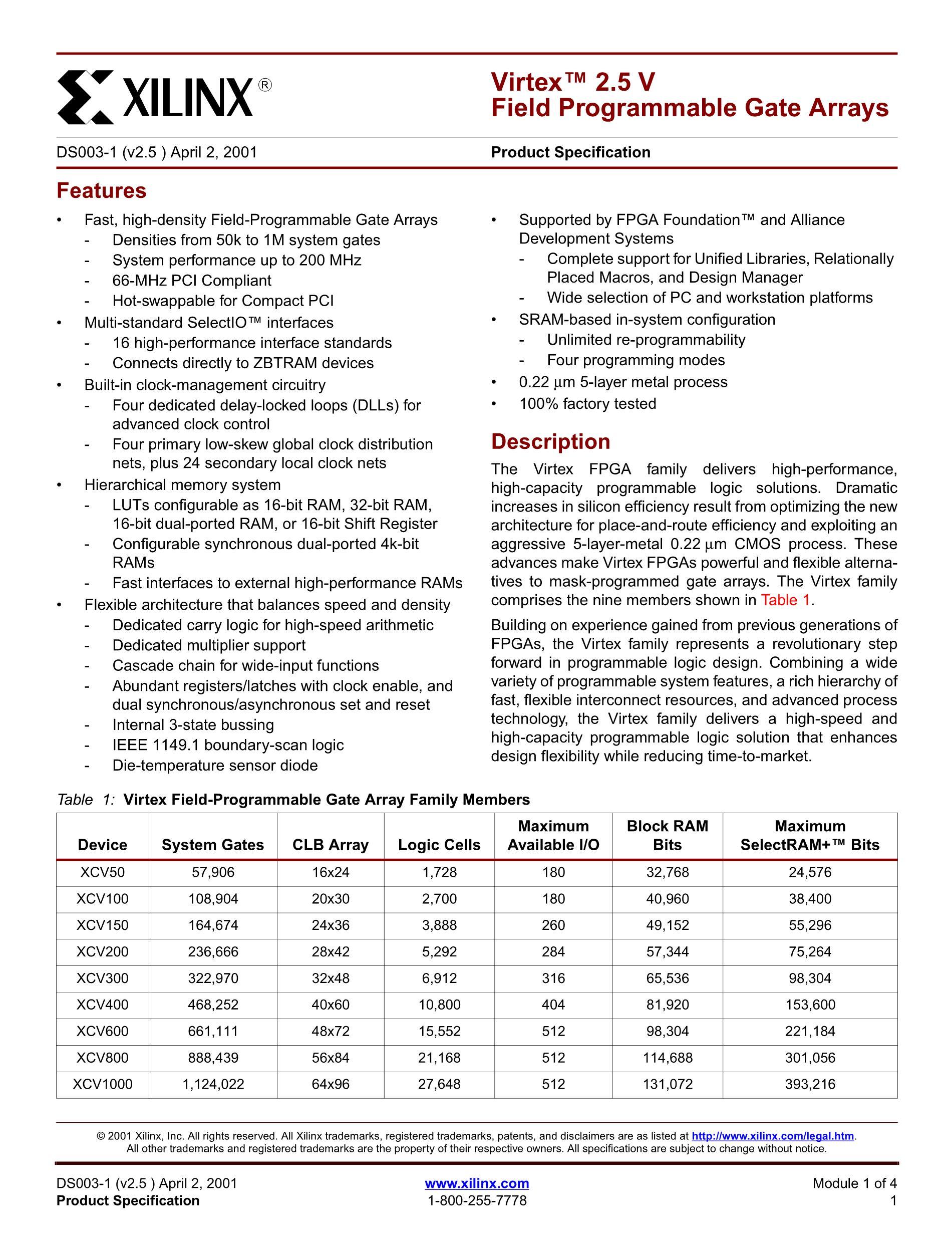 XCV150-4BG352I's pdf picture 1