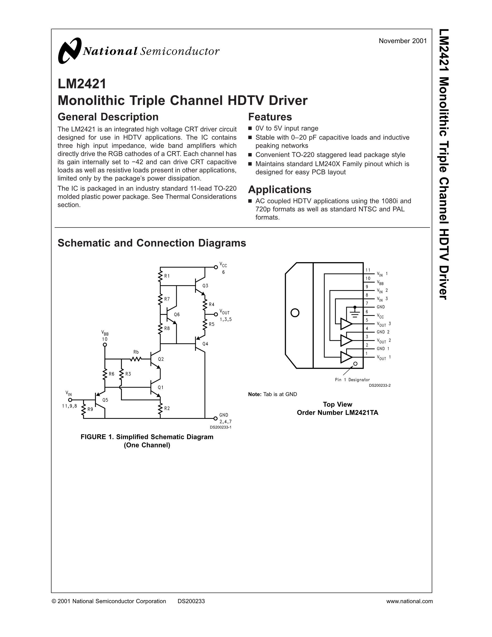 LM2465TA's pdf picture 1