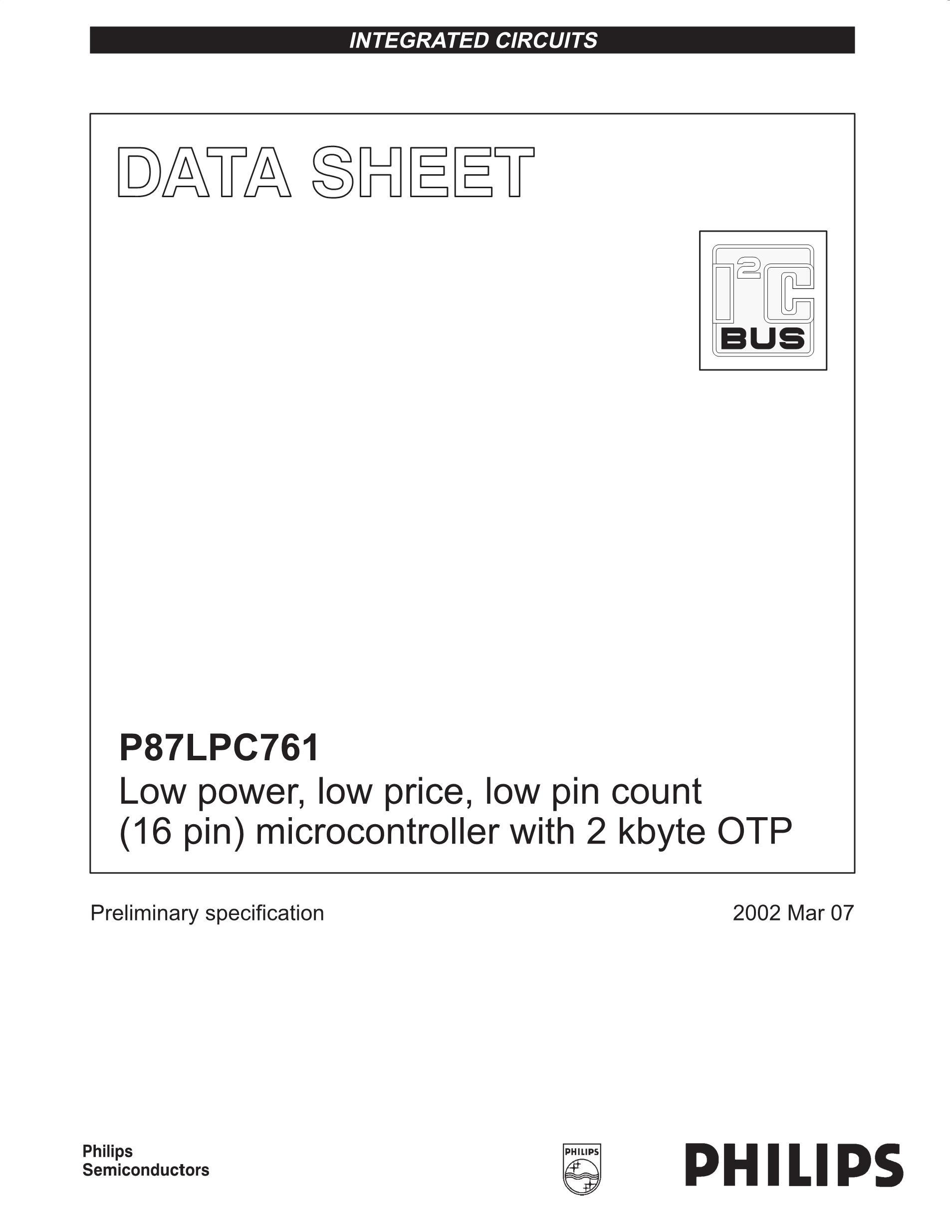 P87LPC936's pdf picture 1