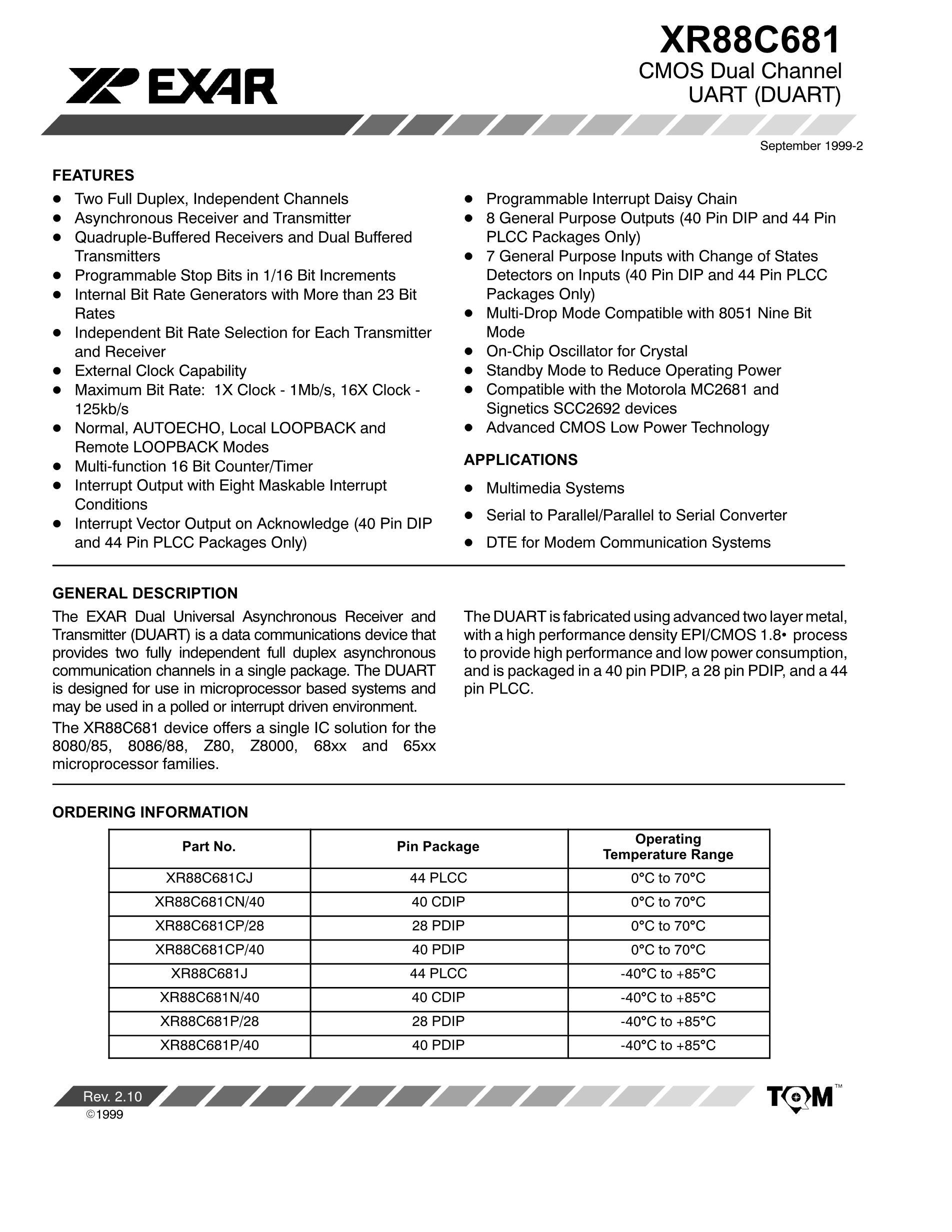 XR88C681CP/40's pdf picture 1