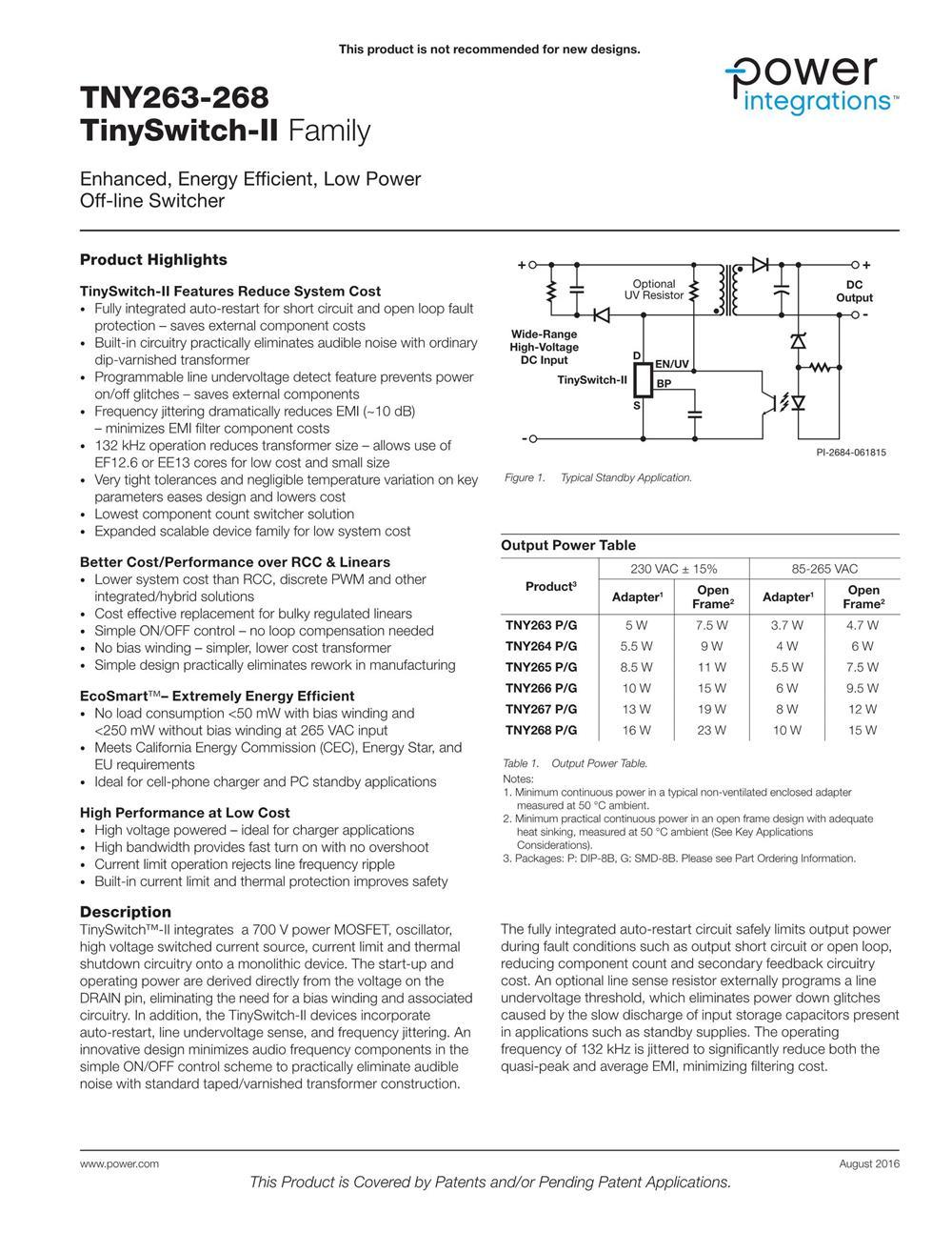 TNY264PN's pdf picture 1