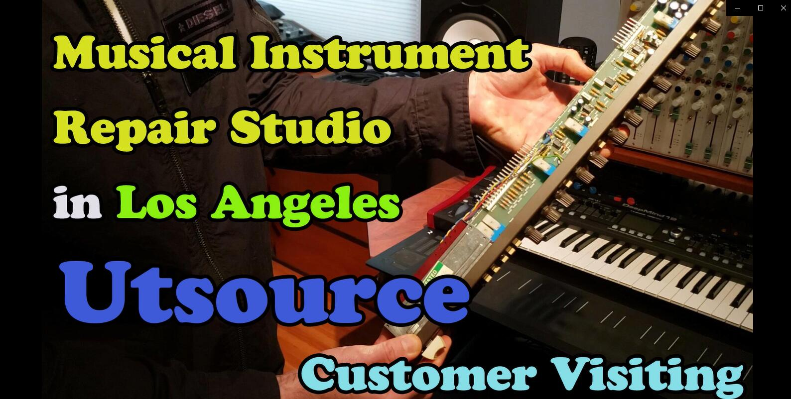 Musical Instrument Repair Studio in Los Angeles, Utsource Customer Visiting