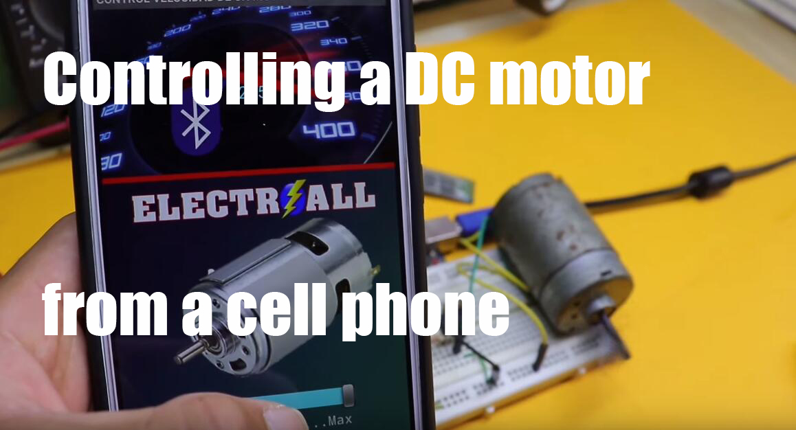 Controlling a DC motor from a cell phone