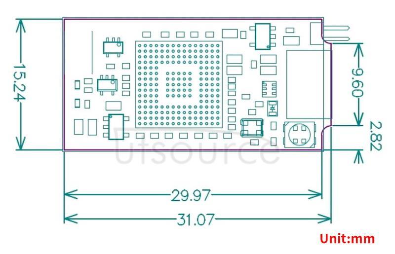 STLINK-V3MINI dimensions