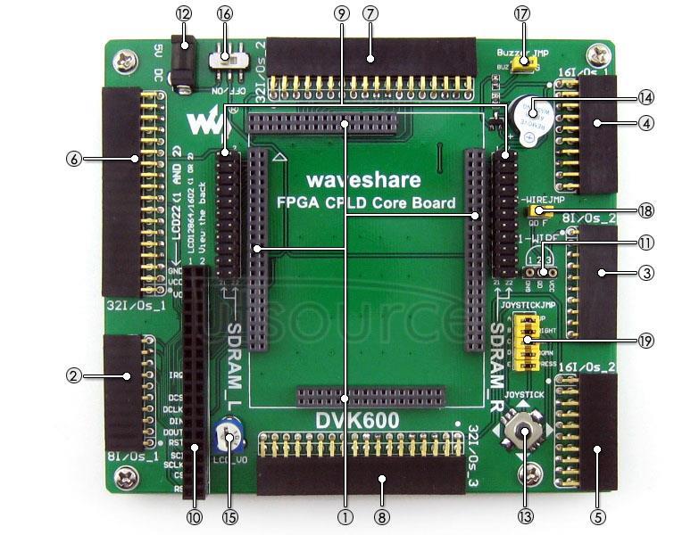 FPGA CPLD development board on board resource