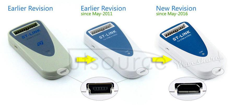 ST-LINK revisions comparing