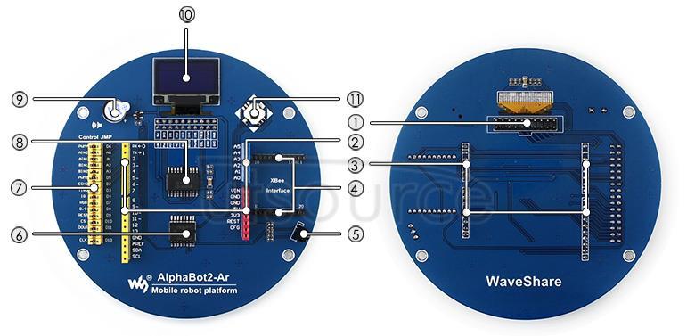 AlphaBot2-Ar on board resource