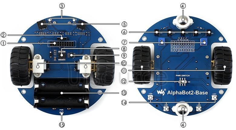 AlphaBot2-Base on board resource