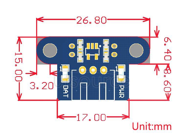 Photo Interrupter Sensor dimensions