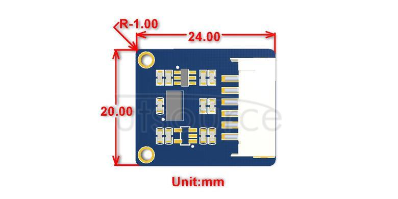 VL53L0X Distance Sensor dimensions