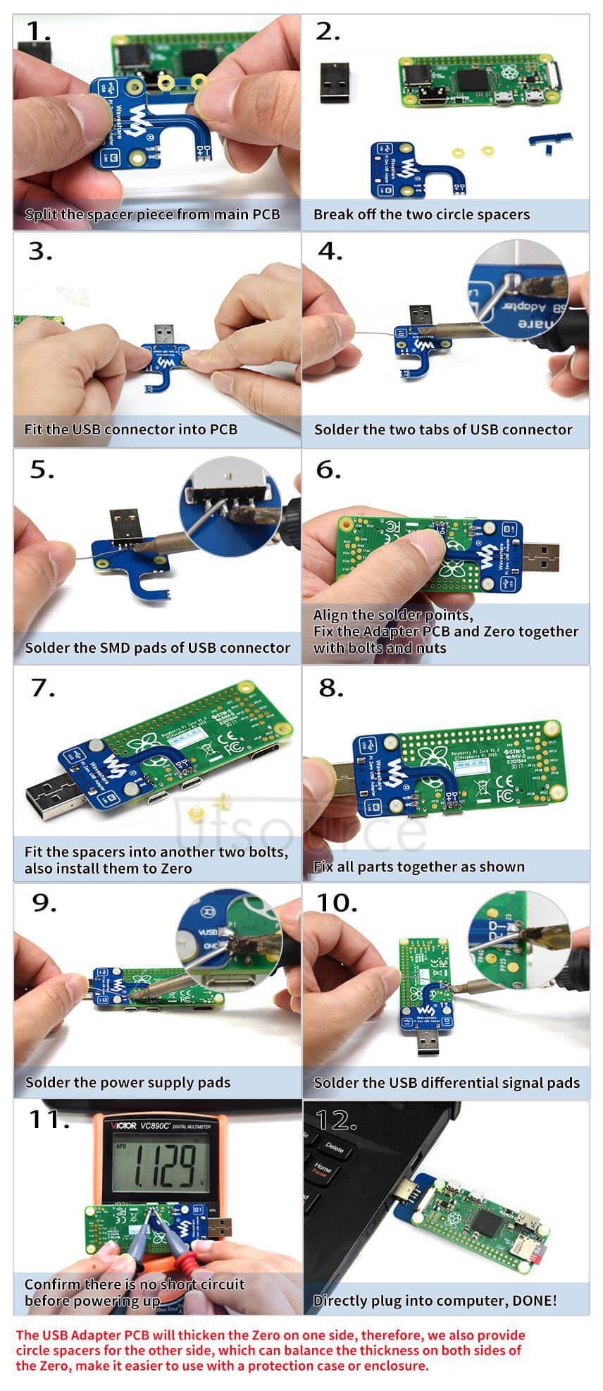 Pi Zero USB Adapter Assembly Instruction
