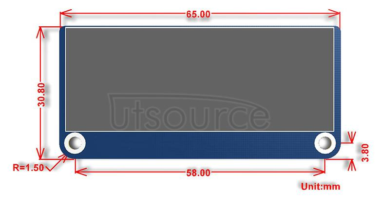 2.23inch OLED HAT dimensions