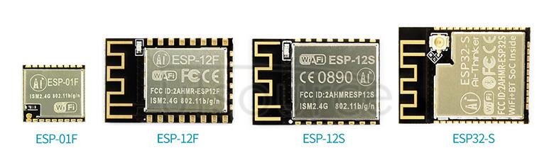 ESP series WiFi Bluetooth modules comparing