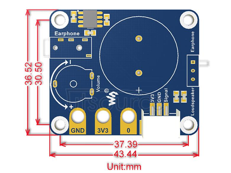 Speaker for micro:bit dimensions
