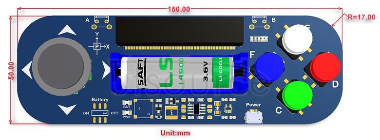 Joystick for micro:bit dimensions