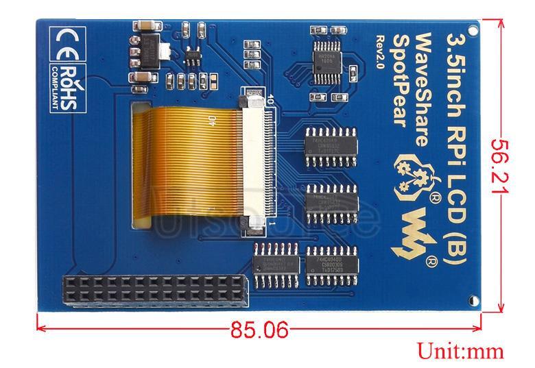 3.5inch-RPi-LCD-B-dimension