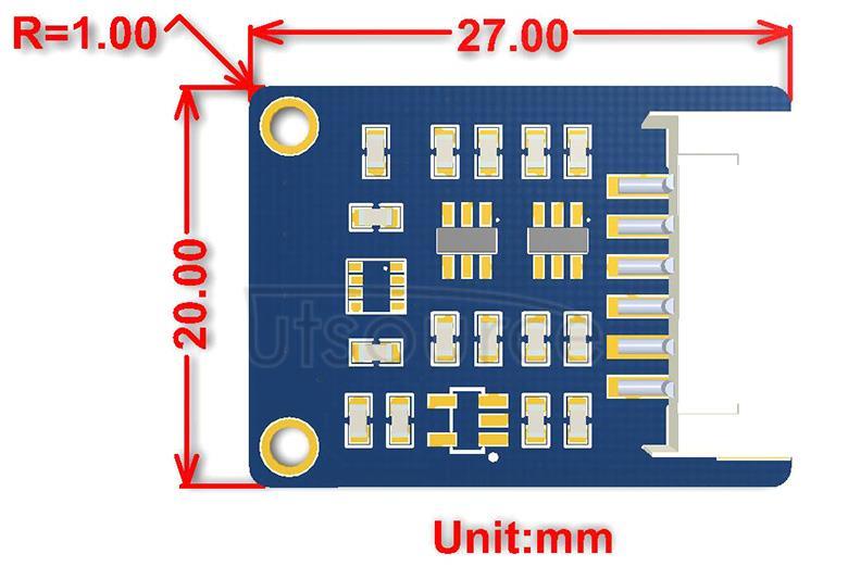 BME280 Environmental Sensor dimensions