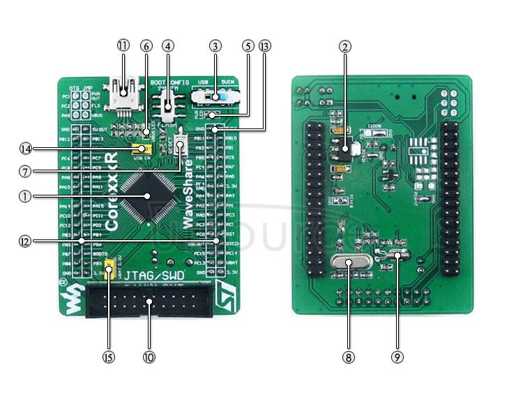 STM32F103RCT6 development board on board resource