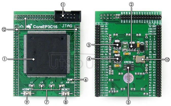 EP3C16Q240C8N core board on board resource