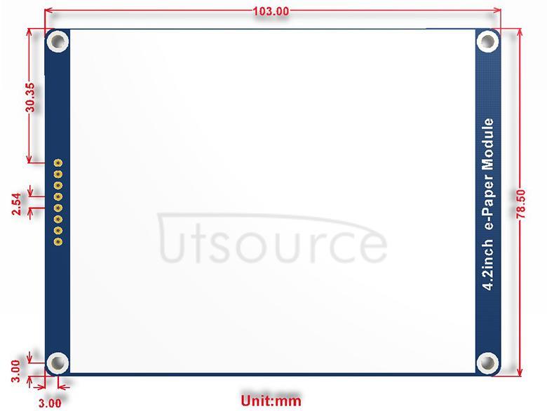 4.2inch e-Paper Module (B) dimensions