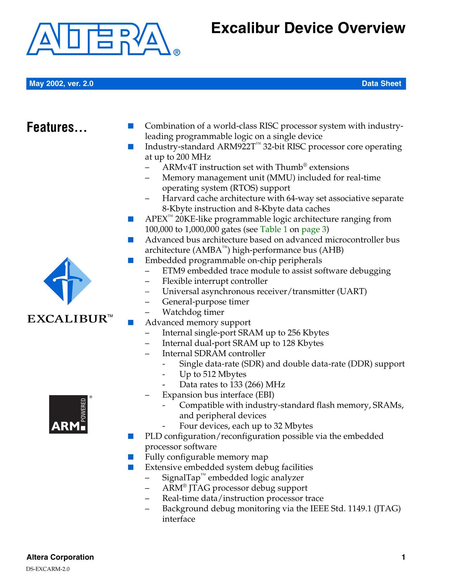 EPXA10F1020C2's pdf picture 1