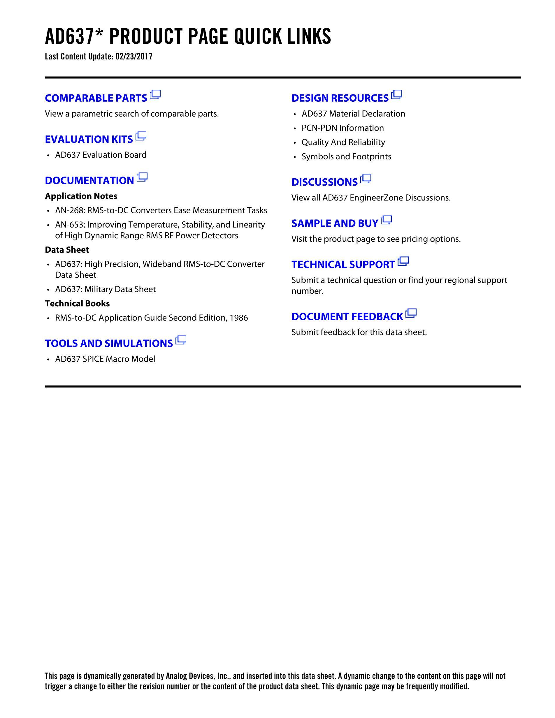AD637KQ's pdf picture 2