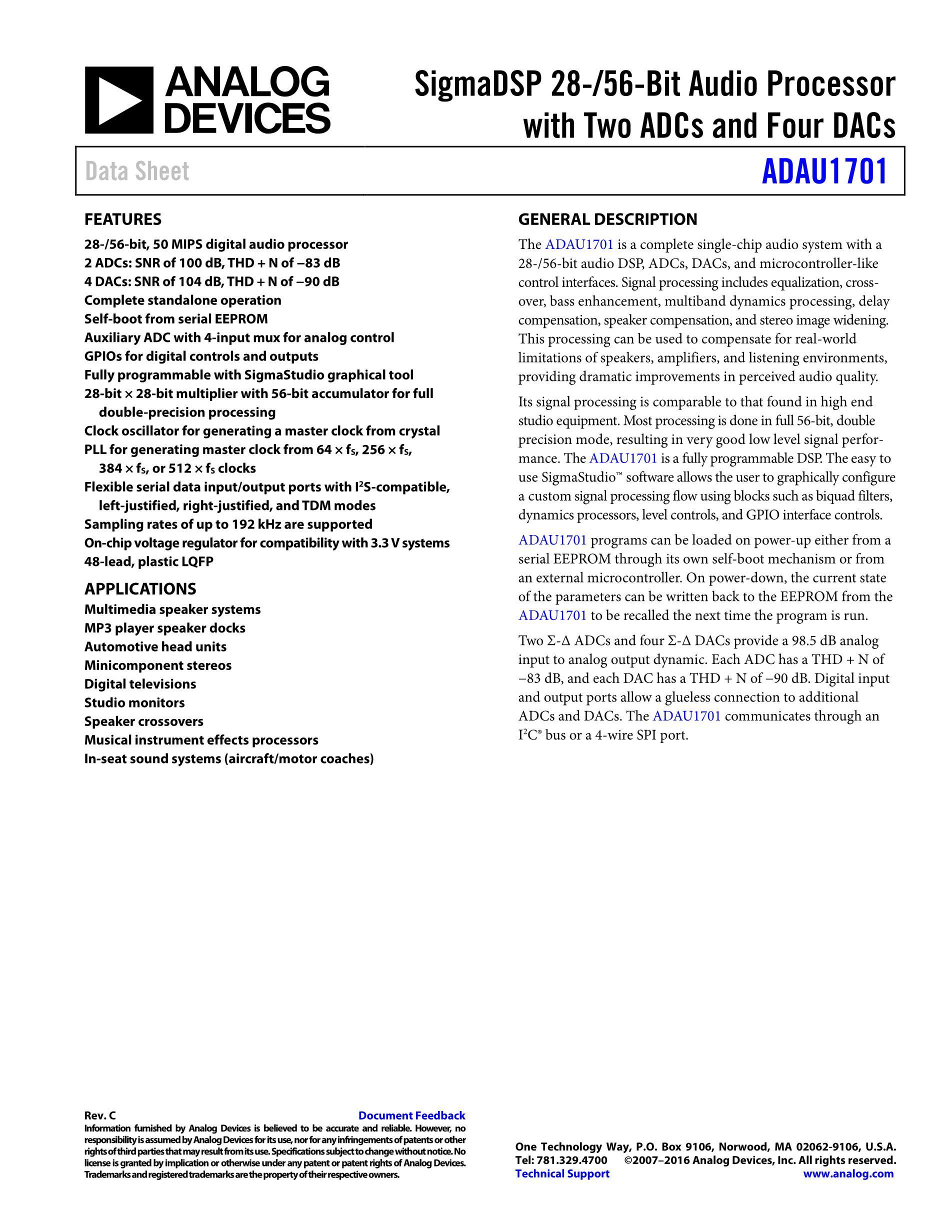 ADAU1787BCBZRL's pdf picture 1