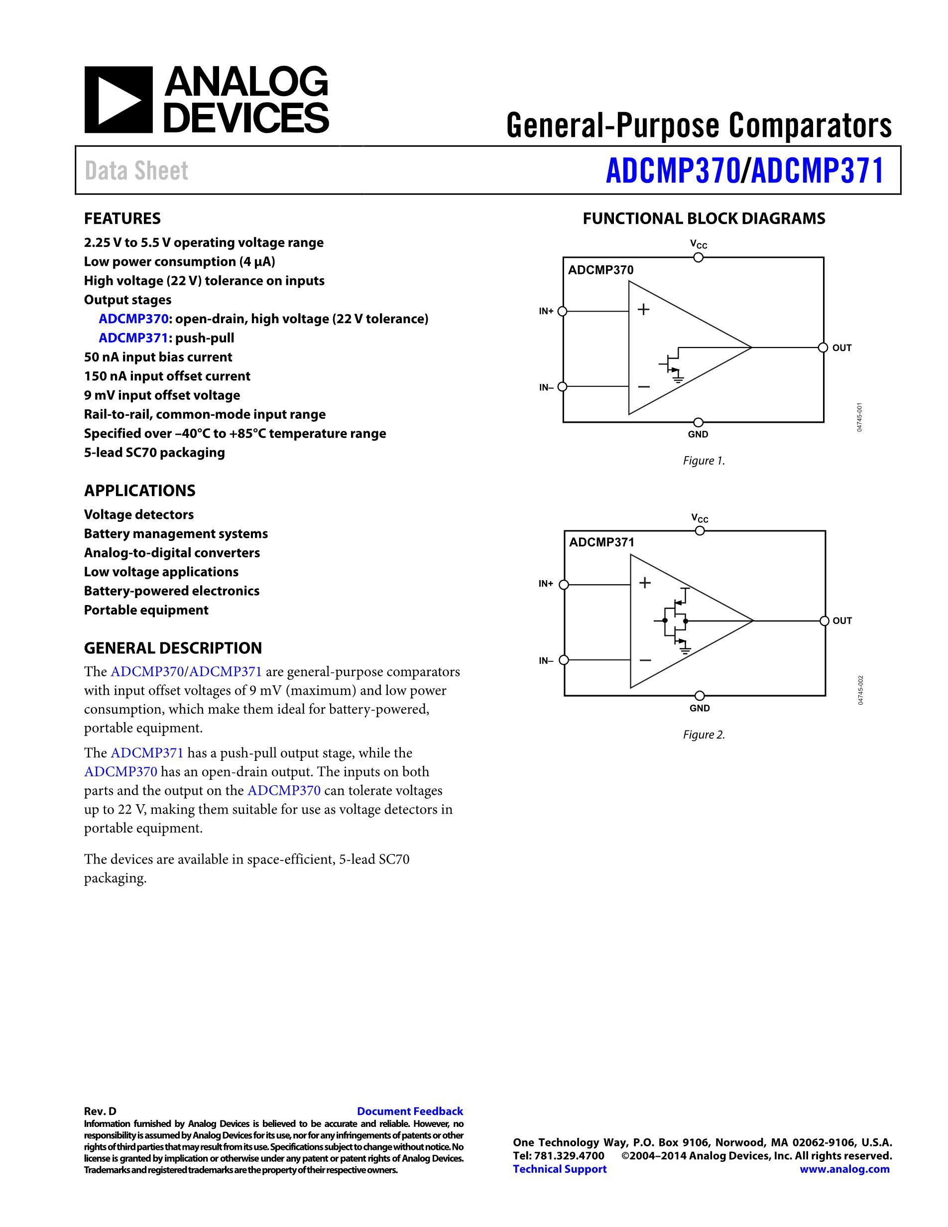 ADCMP393ARUZ's pdf picture 1