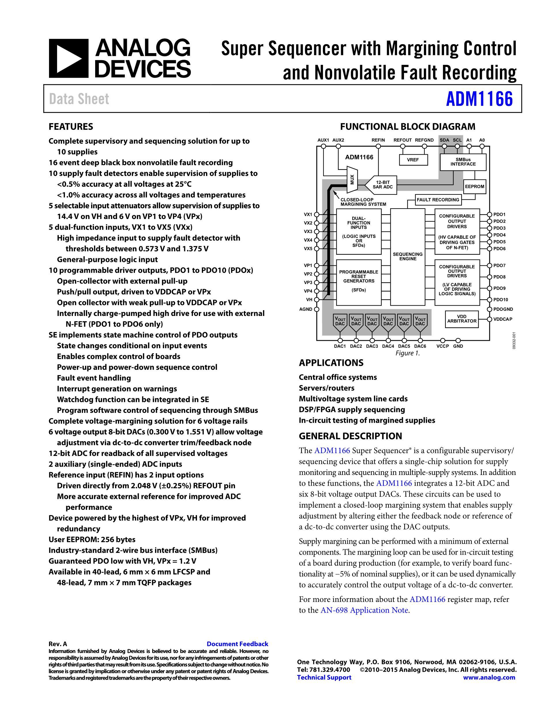 ADM1166ACPZ's pdf picture 1