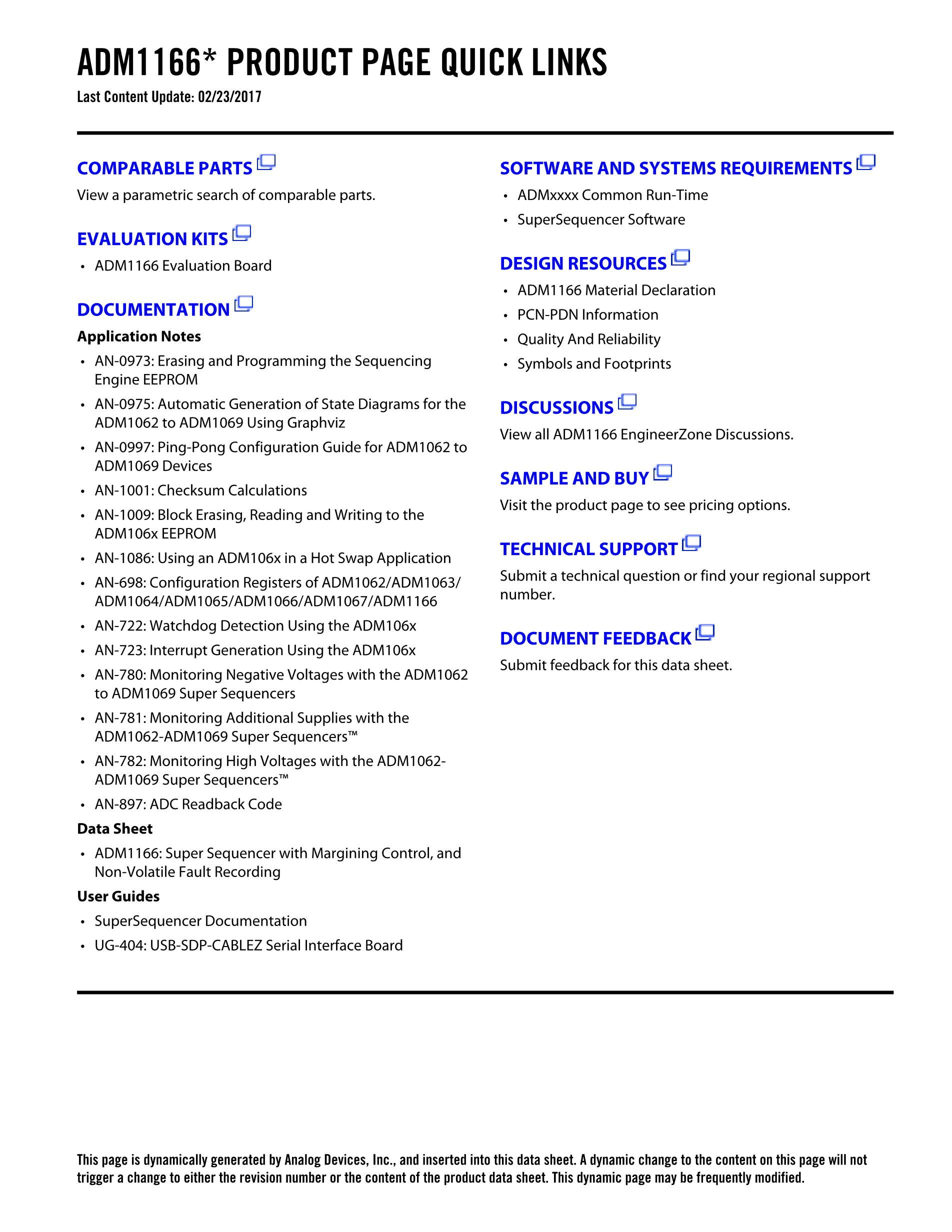 ADM1166ACPZ's pdf picture 2