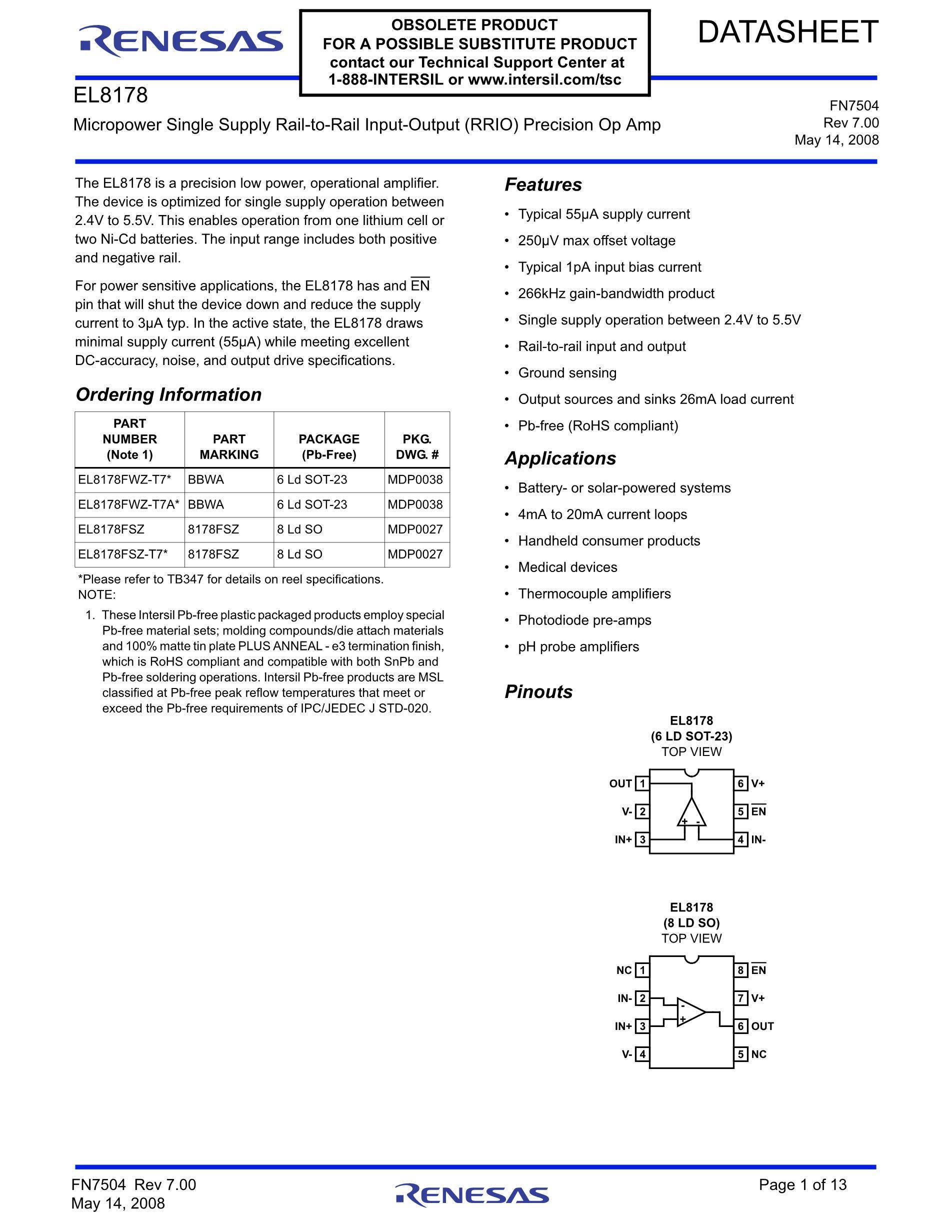 EL8176ISZ-T7's pdf picture 1