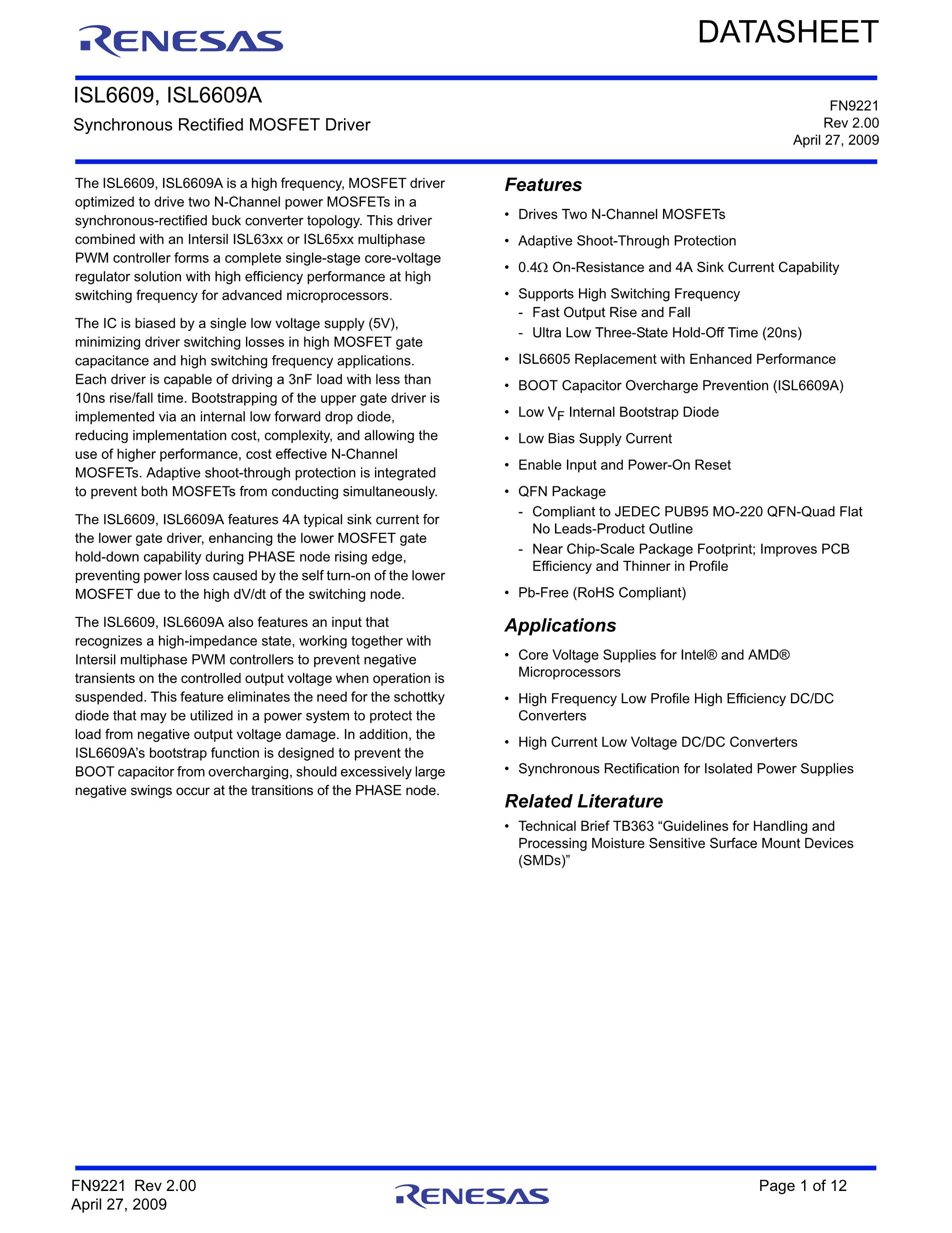 ISL6146DFUZ-T's pdf picture 1