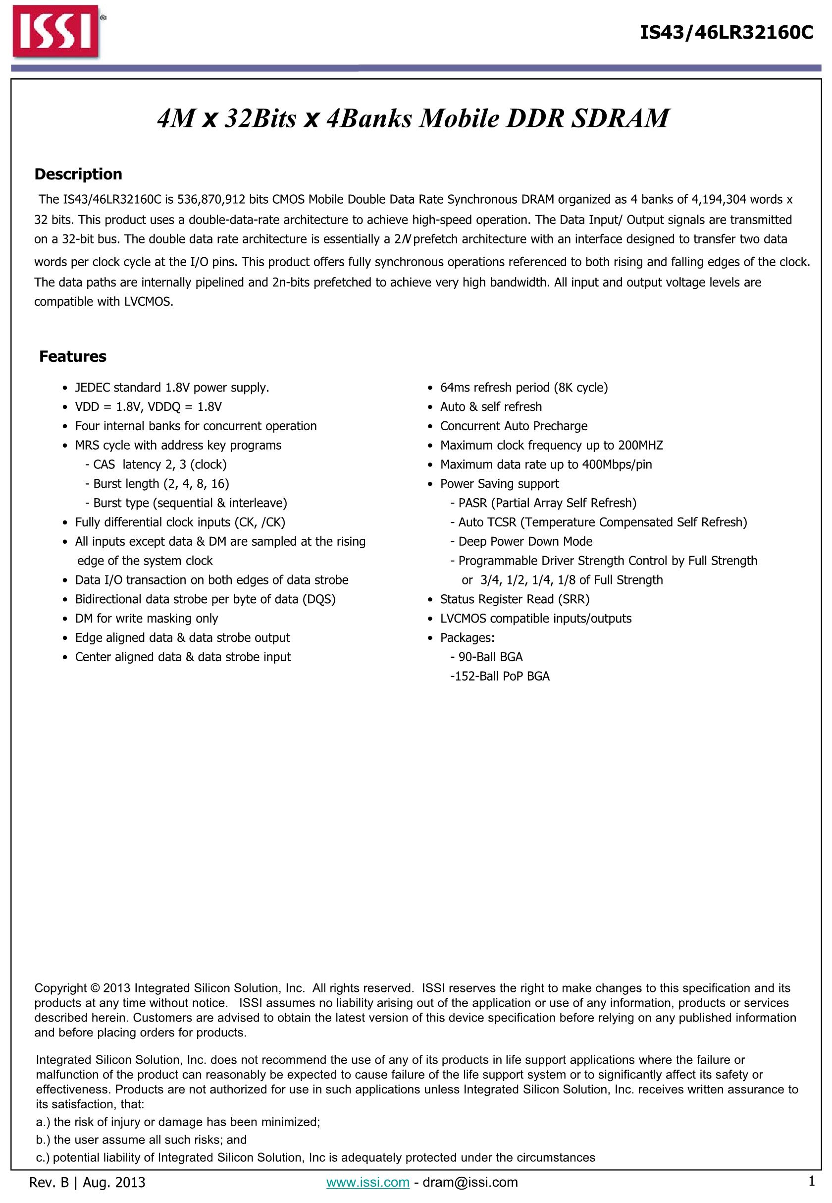 IS43TR16640A-125JBL's pdf picture 1
